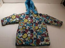 Hanna Andersson Girls Fall Winter Coat 100   Size 4  Floral Print Removable Hood