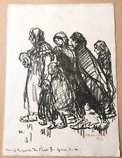 """Téophile Alexandre Steinlen """"Groupe à la gare du nord"""" lithographie originale"""