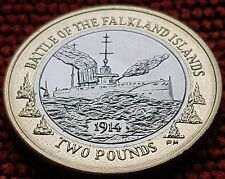 Falkland Islands 2014 Centenary of the Battle of Falkland £2 HMS Glasgow Coin