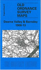 OLD ORDNANCE SURVEY MAP DEARNE VALLEY,  BARNSLEY & GRIMETHORPE 1908 - 1913
