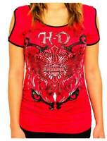 Harley-Davidson® Women's Mermaiden B&S Embellished Short Sleeve Tee