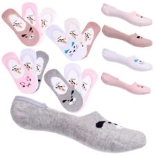 Ladies Low Cut Socks Cotton Invisible Animal Pattern Anti-slip Footsies CW18005