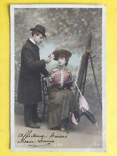 cpa de 1905 ARTISTE PEINTRE PAINTER La VIE à Mme Aurélie BENDELÉ de LYON