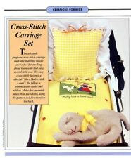 Baby Carriage Set Mary Had A Little Lamb Cross Stitch & Sewing Pattern