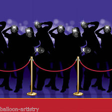 Hollywood Awards Night Scene Setter Backdrop Room Roll - RED CARPET PAPARAZZI