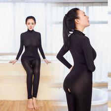 Women Sexy Fetish Open Bra Bodysuit Leotard Backless Jumpsuit  Zipper Clubwear