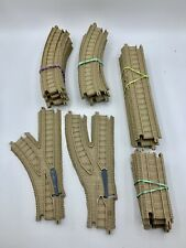 Thomas and Friends Trackmaster Train Track Lot Tan beige 22 Pieces Curves Splits