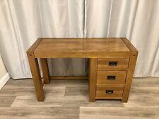 Oak Furniture Land 100% Rustic Solid Oak Dressing Table Office Desk Quercus !!