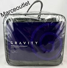 "Gravity Premium Weighted Blanket Micro Fleece 25 Lbs 48"" x 72"" Gray"