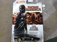 Hot Wheels capitán América Serie Remachada Invierno Solider 5/8 2016 Walmart Marvel
