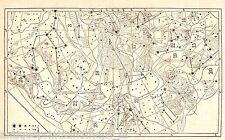 Antique print Celestial map Star chart stars Sternkarte holzstich Carta celeste