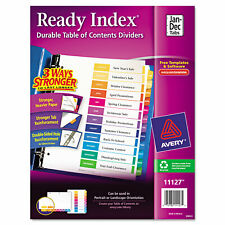 Avery Ready Index Customizable Table Of Contents Multicolor Dividers 12 Tab