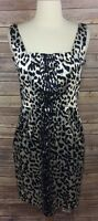 White House Black Market Animal Print Sleeveless Dress Size 2 Flawed See Photos