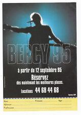 JOHNNY HALLYDAY flyer BERCY 95 FLYER