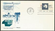 US FDC.US 1971 ANTARCTIC TREATY 8C STAMP #1431 FIRST DAY COVER.FOIL TYPE CACHET