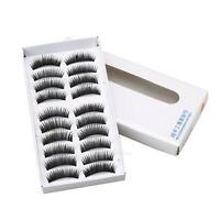 10 Pairs Handmade Thick False Fake Eyelashes Eye Lashes Makeup Extension Black