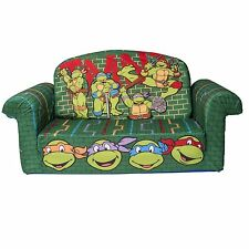 NINJA TURTLES Plush KIDS CHAIR Fold Out Padded Sofa Bed Lounge Couch Age 2-5
