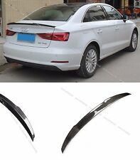 Carbon Fiber Rear Trunk Spoiler Lip Wing for 2013-2016 Audi A3 S3 Sedan 4dr