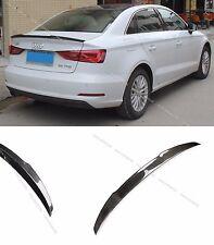 Carbon Fiber Rear Trunk Spoiler Lip Wing for 2013-2016 Audi A3 S3 Sedan 4dr (B)