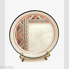 ARKLOW Stoneware Hopi Pattern Vintage Irish Honey Stone Dinner Plates Ireland