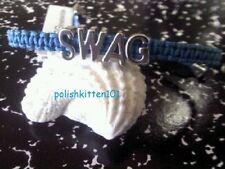 BCBG ~*SWAG*~ AFFIRMATION BRACELET TEAL MACRAME/SILVER NWT SOLD OUT!