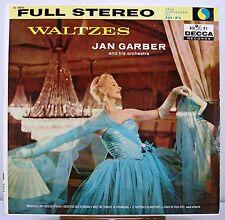 """12"""" 33 RPM STEREO LP - DECCA DL-78824 - AUTOGRAPHED - JAN GARBER - WALTZES"""