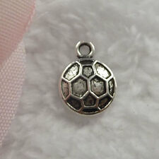Free Ship 320 pieces tibet silver football charms 15x11mm  #103