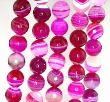 """10MM RED AGATE GEMSTONE RED SWIRLS FACETED ROUND 10MM LOOSE BEADS 15"""""""
