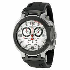 Tissot T-Race Chrono White Dial Black Rubber Men's Watch T048.417.27.037.00 NEW