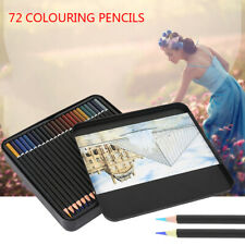 72x Colouring Drawing Art Painting Pencils School Watercolor Oil Sketching Set