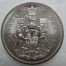 1987 CANADA 50¢ HALF DOLLAR COIN BRILLIANT UNCIRCULATED