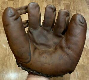 1940s MacGregor GoldSmith DW Elmer Riddle, Split Finger, Baseball Glove US Army!