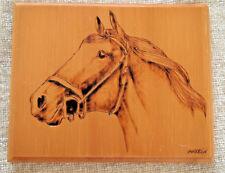 Original  Handmade Wood Burning (PhyroGraphics) Wall Art Plaque signed by Artist