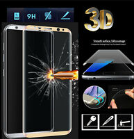 Full Curved 3D Tempered Glass Screen Protector For Samsung Galaxy S8 - Gold