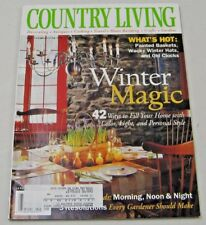 Country Living Magazine January 2000 Whats Hot: Old Clocks,Painted Baskets