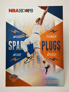 Panini Hoops 2020-21 N20 card NBA Spark Plugs #6 RJ Barrett New York Knicks