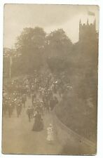 Unidentified Brass Band Leading Parade, Scene RP PPC, Unposted, Unknown Location