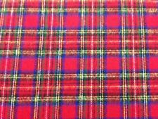 Red Stewart Cotton Flannel Fabric by the Yard - F63