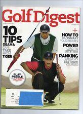 Golf Digest Magazine January 2010 Tiger Woods, Barack Obama