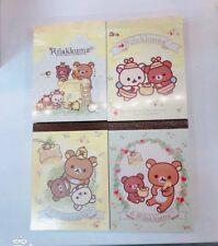 Lot 4pcs Japan San-X Rilakkuma Honey Bee Harvest Color Pages Mini Note Memo Pad