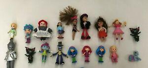 Large Junk Drawer Lot of 18 Toy Girl Figures Dolls Pony Bratz Oz Tin Man Funrise