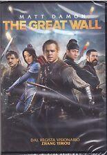 Dvd **THE GREAT WALL** con Matt Damon nuovo 2017