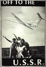 "RARE UNUSUAL 1970s ""Off To The USSR"" Cold War Era Sputnik Youth Program Booklet"