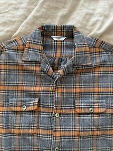 Fujito Japanese Brushed Flannel Shirt jacket Mens Size 3 (fits like Medium)
