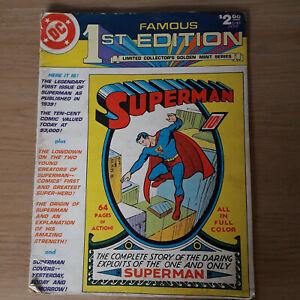 Superman DC Famous 1st Edition Superman 1, 1979