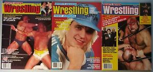 Vintage Pro Wrestling Magazine Lot of 3 Sports Review Wrestling New WCW WWF 1984