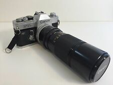 Canon FTB QL SLR Film Camera w/FD 100-200mm 1:5.6 Zoom lens-Good Working