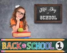 BTS1 Back to School Digital Backgrounds Backdrops Template Children Props Frame