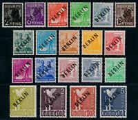 BERLIN 1948, MiNr. 1-20, postfrisch, II. Wahl, gepr. Schlegel, Mi. 370,-