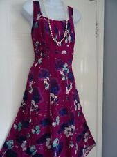 LADIES  MONSOON   STUNNING  SUMMER  SILK    DRESS  SIZE  14